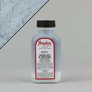 Angelus GREY SUEDE DYE 3oz Bottle Industry Strength Dye Vibrant Colors