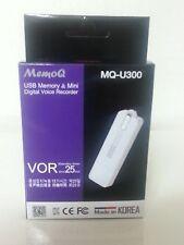 Genuine MQ-U300 USB Memory & Voice Recorder MemoQ 4 GB [White]