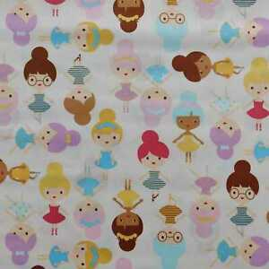 Girl Friends Ballerinas Sweet fabric by Robert Kaufman - CLEARANCE!