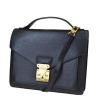 Auth Louis Vuitton Monceau 2Way Shoulder Hand Bag Epi Leather BK M52122 88MC549