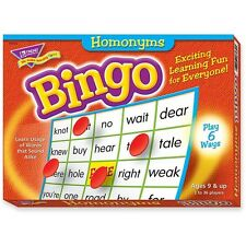 Trend Enterprises Homonyms Bingo Game, 3-36 Players, 36 Cards/Mats 6132