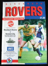 Blackburn Rovers v Norwich City   Leaue Cup  3rd Round  28-10-1992