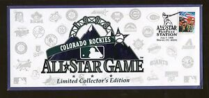 1998 MLB Colorado Rockies All Star Game Limited Collectors Edition Event Cover
