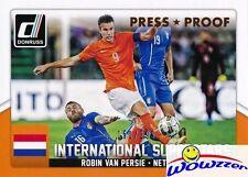 2015 Donruss IS Robin Van Persie BRONZE PRESS PROOF #/299 MINT Netherlands