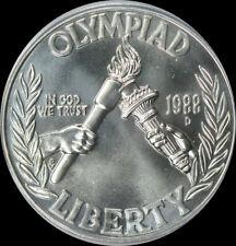 1988 D Olympic Silver Dollar Gem BU No Reserve