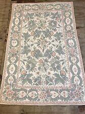 Vintage Oriental  Tapestry Crewel Work Rug Size:180x120 Cm Handmade Carpet