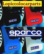 03791NR Coppia Lastre paraspruzzi auto Rally Sparco NERE gomma  ritagliabili