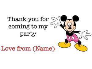 Personalised Birthday Party Bag Stickers Labels Thank You For Coming To My Party