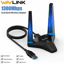 1300Mbps Usb WiFi Adapter Wireless Network Card Receiver Dual Band 2.4G/5G