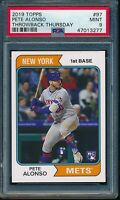 2019 Topps Throwback Thursday #97 Pete Alonso RC SP PSA 9 Mint Rookie Card