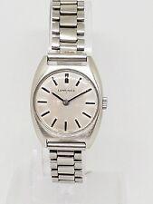 18) Ladies Vintage Stainless Steel Longines Mechanical Wrist Watch
