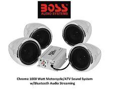 Chrome Sound Audio System Harley Davidson Custom Chopper Bobber Bluetooth 2 Pair
