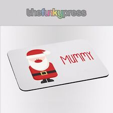 Printed Personalised Placemat Christmas Name Santa Elf Snowman Rudolph Gift 2 Placemats