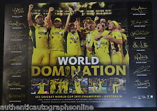 Australia Cricket ICC World Cup Champions 2015 Print