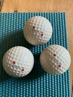 Lot Of 3 Vintage Antique 1920's 30's Grand 50 Golf Balls Red Rare