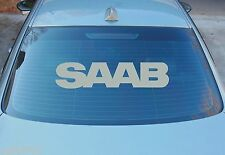 SAAB LARGE WINDOW STICKER DECAL GRAPHICS 580mm x 130mm CHOICE OF COLOURS