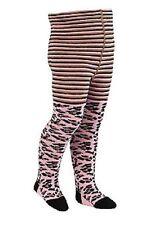 Nursery Rhyme Baby (12 - 24 Months) Pink Leopard/Stripes Tights