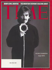 TIME MAGAZINE GEORGE HARRISON BEATLES MINT AND UNREAD