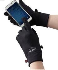LL Bean Mens Primaloft Therma-Stretch Fleece Gloves Size XL Black $35