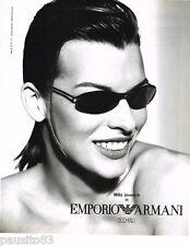 PUBLICITE ADVERTISING 085  2004  ARMANI lunettes solaires MILA JOVOVICH 2