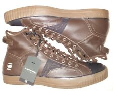 G-Star Raw Brown Leather High Top Leather Sneakers Mens Sz 11 (New Without Box)