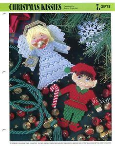 Christmas Kissies ~ Kisses Squeezums Squeezies plastic canvas pattern leaflet