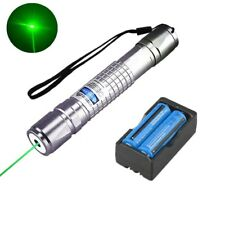20Miles High Power 5mw 532nm Green Laser Pointer Pen Pet Toy Laser+18650+Charger