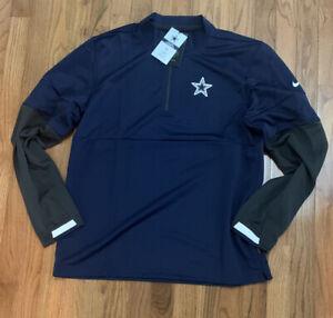 Men's Dallas Cowboys Nike Sideline Performance Half-Zip Jacket Medium NWT $85