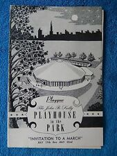 Invitation To  March - Playhouse In The Park Theatre Playbill - July 1960
