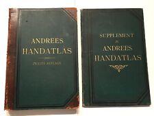 Richard Andree Allgemeiner Handatlas, 2.Aufl. 1887 incl. Supplement, 120 Karten