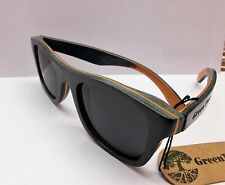 Occhiali da sole Green Time by Zzero, Skate Man Wood Sunglass, ZWS02D