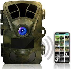 Rexing Woodlens H2-4K Wi-Fi Trail Camera, 20MP CMOS Motion Sensor