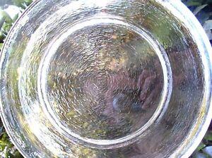 ART GLASS Large 30cm  RIPPLE ROUND Unusual Serving Platter VG Kitchen Bar - Aust