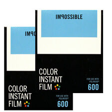 TWO Polaroid 600 Type Instant Film / Impossible 600 film - NEW VERSION