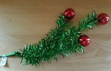 Pick Green Christmas Tree Red 20'' Plastic Bulbs Garland Wreaths Floral NWT