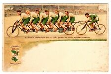 POSTCARD STYRIA BICYCLE ADVERTISING MEN ON TANDEM RACING CYCLE