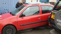 Renault clio mk2 mk II front passenger side door in red ov727 2001-2006