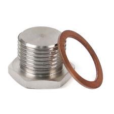 M18 * 1.5 Thread Silver 304 Stainless Steel O2 Oxygen Sensor Plug Bung Bolt Stub