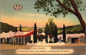 Linen Postcard Alamo Motor Courts in Alamogordo, New Mexico~137227