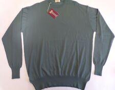 "William Lockie Crew neck 2 ply cashmere sweater jumper pullover top 48"" green"