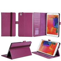 "For SAMSUNG GALAXY TAB Pro 8.4"" Purple Leather Folio Case with Credit Card Slots"