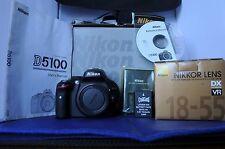 Nikon D D5100 16.2 MP w/Nikon 18-55mm VRII lens. Excellent cond. w/Nikon box.