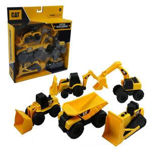 5PK CAT Mini Machines Construction Truck Vehicle Toy Kids/Children 3y+ Yellow