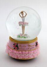 Spieluhr Ballerina Glitzerkugel Schüttelkugel Ballett Rüschen rosa Brahms Walzer