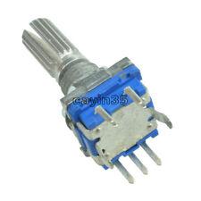 5PCS codificador rotatorio con Interruptor EC11 Audio Digital Potenciómetro 20mm Manija
