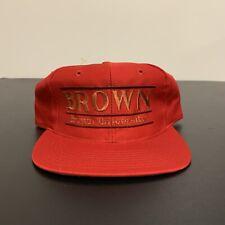 Brown University Bears Split Bar Snapback Hat The Game NWOT New 90s Vintage