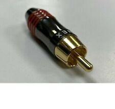 QED Qunex Phono Plug (Pack of 8 - RED)