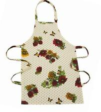 Cotton Kitchen Cooking Catering Baking Apron Adjustable Flower Yellow Cream