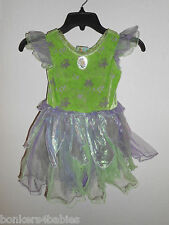 Disney Store Exclusive Fairies TINKERBELL Green Purple Dress Costume Outfit 4T