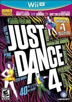 NINTENDO WII U DANCING GAME JUST DANCE 4 BRAND NEW & FACTORY SEALED